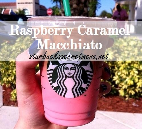 starbucks raspberry caramel macchiato