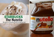 starbucks secret the nutella