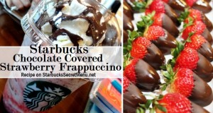 chocolate covered strawberry frappuccino