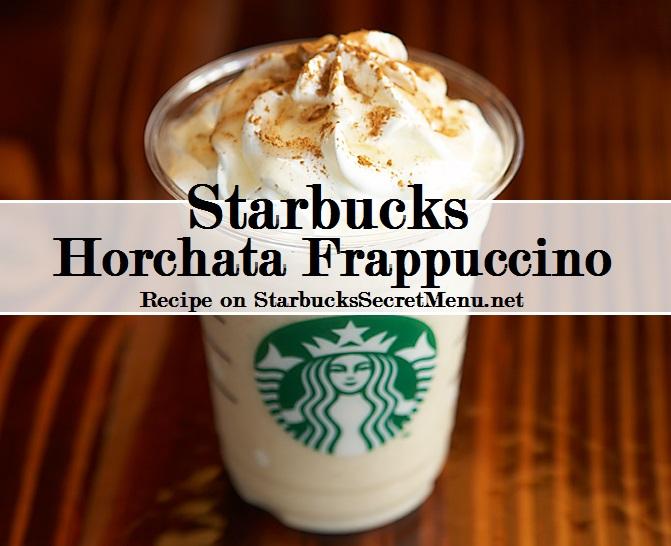 horchata frappuccino