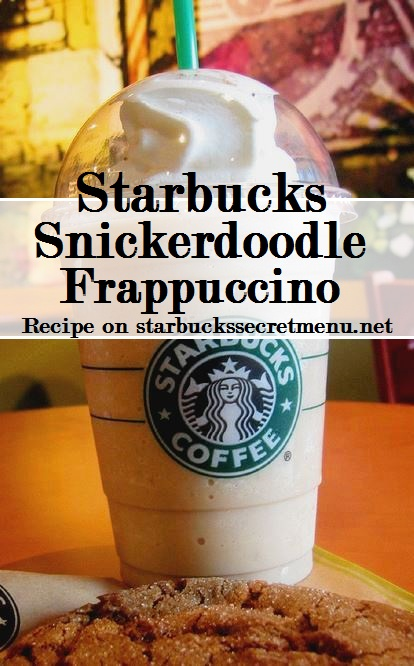 starbucks snickerdoodle frappuccino