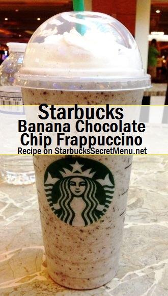 banana chocolate chip frappuccino