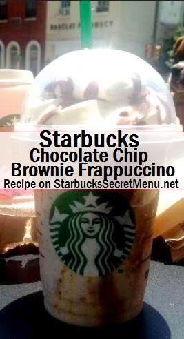 chocolate chip brownie frappuccino