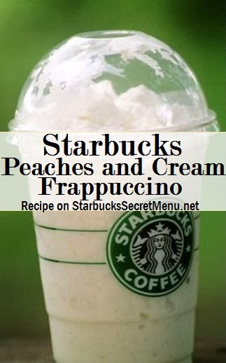 peaches and cream frappuccino