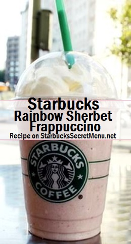 rainbow sherbet frappuccino
