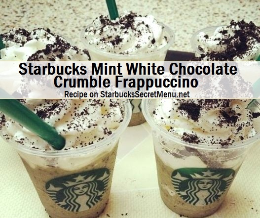 starbucks mint white chocolate crumble frappuccino
