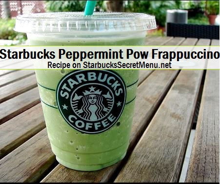 starbucks peppermint pow frappuccino