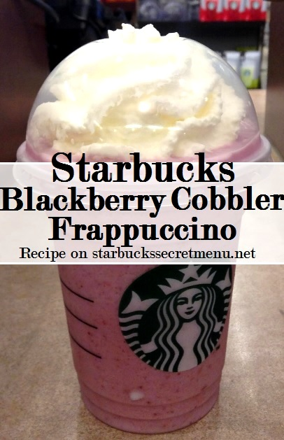 blackberry cobbler frappuccino