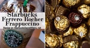 ferrero rocher frappuccino