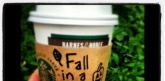 starbucks fall in a cup