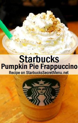 pumpkin pie frappuccino