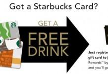 starbucks card free drink