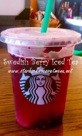 swedish berry iced tea