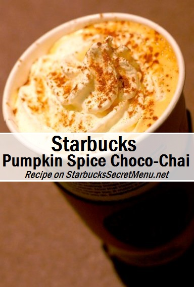 pumpkin spice choco chai