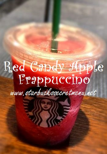 red candy apple frappuccino