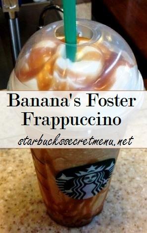 banana's foster frappuccino