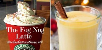 starbucks secret fog nog latte