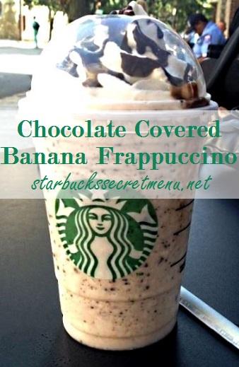 chocolate covered banana frappuccino