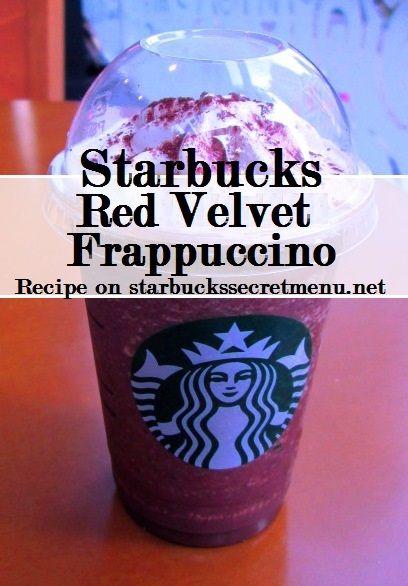 Red Velvet Cake Frappuccino Starbucks