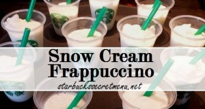 Snow Cream Frappuccino