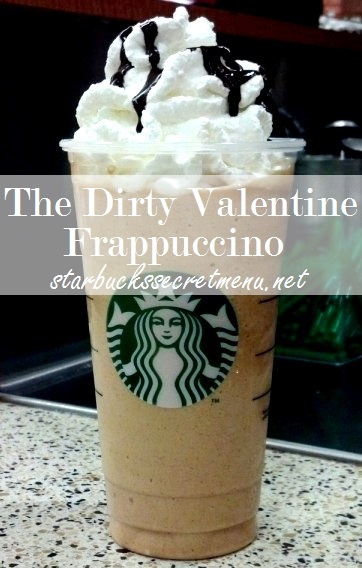 the dirty valentine frappuccino