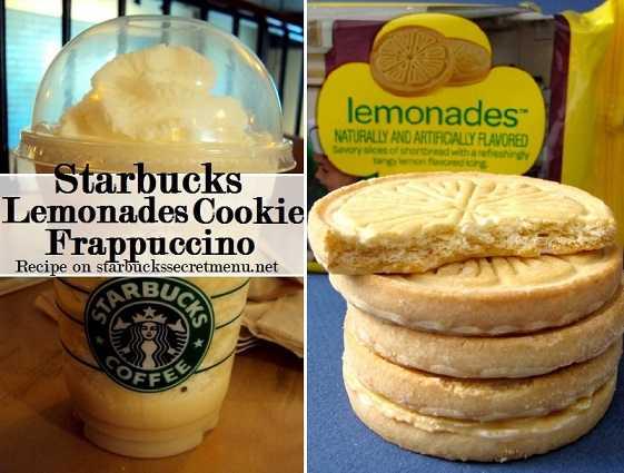 Starbucks Lemonades Cookie Frappuccino Starbucks Secret Menu