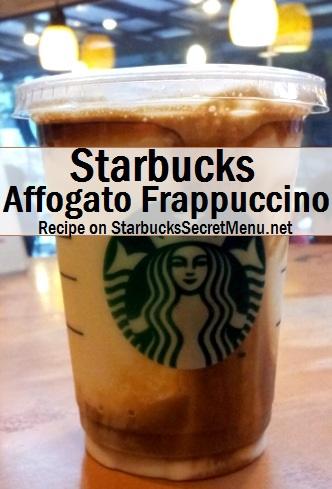 starbucks affogato frappuccino