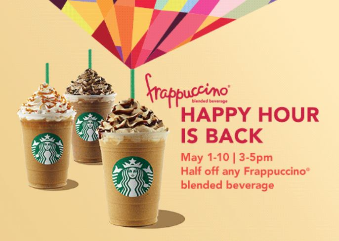 Happy Hour Starbucks Prices Starbucks Happy Hour May 1-10