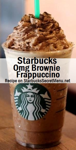 omg brownie frappuccino