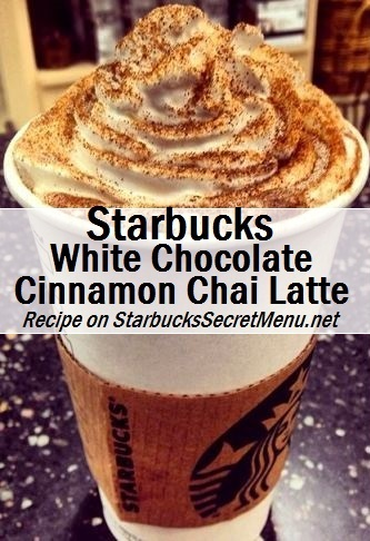 white chocolate cinnamon chai latte