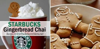 starbucks secret menu gingerbread chai