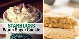 starbucks secret warm sugar cookie