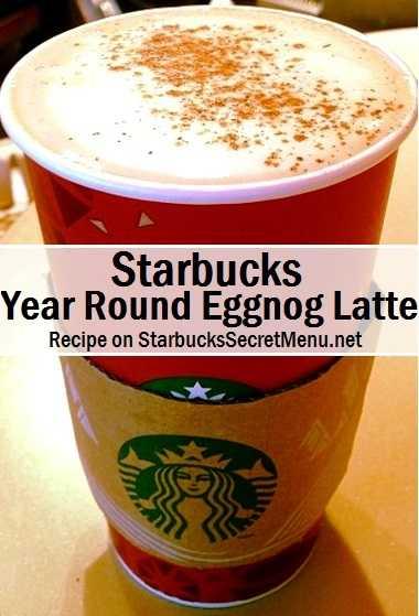 year round eggnog latte