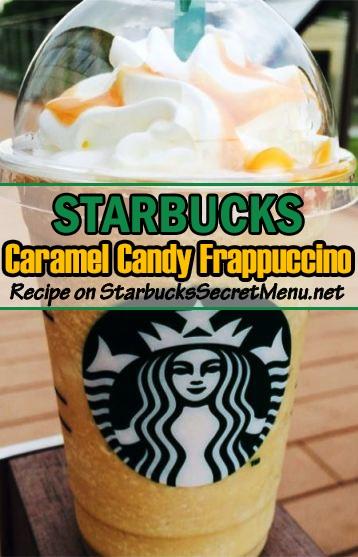 caramel candy frappuccino