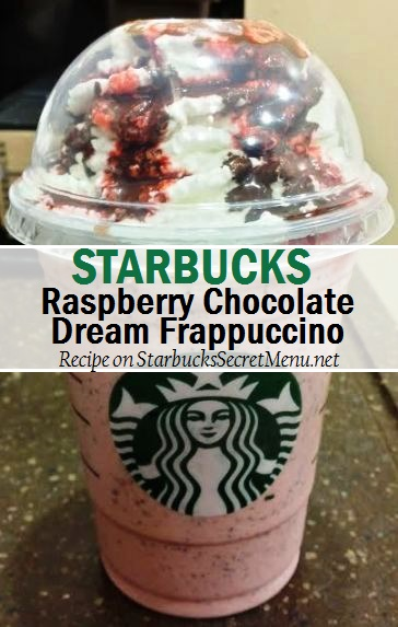 raspberry chocolate dream frappuccino
