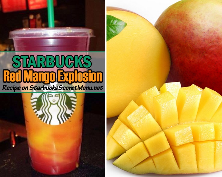 Red Explosion Drink Starbucks Red Mango Explosion