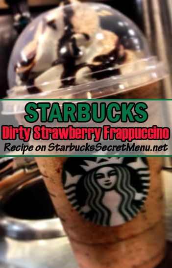 dirty strawberry frappuccino