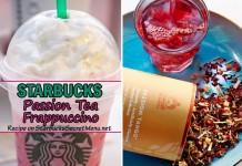 starbucks passion tea frappuccino