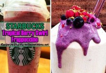 starbucks secret tropical berry swirl frappuccino