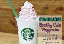 starbucks 20 birthday cake frappuccino