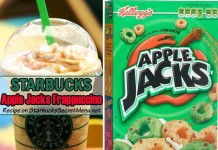 starbucks apple jacks frappuccino feat