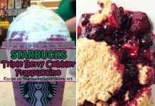 starbucks triple berry cobbler frappuccino feat