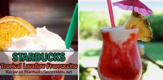 Starbucks Tropical Lavaflow Frappuccino feat