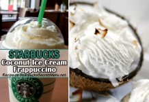 Starbucks Coconut Ice Cream Frappuccino