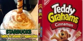starbucks teddy grahams cracker frappuccino