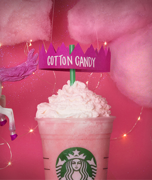 cotton candy frappuccino fan flavor