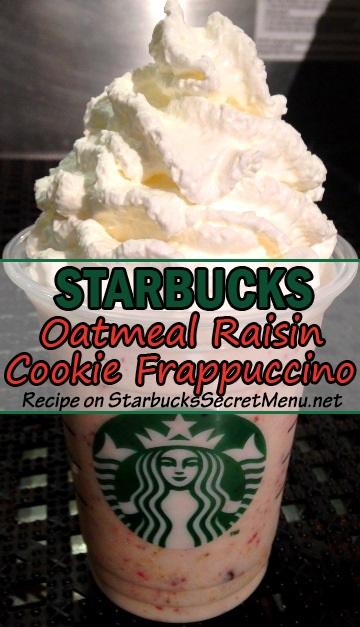 oatmeal raisin cookie frappuccino