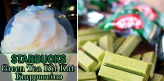 Starbucks green tea kit kat frappuccino
