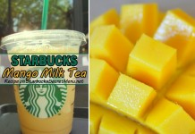 starbucks mango milk tea
