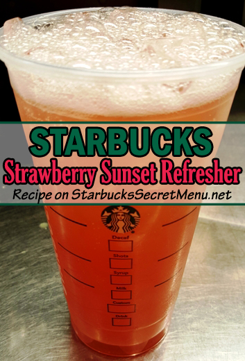 Strawberry Sunset Refresher
